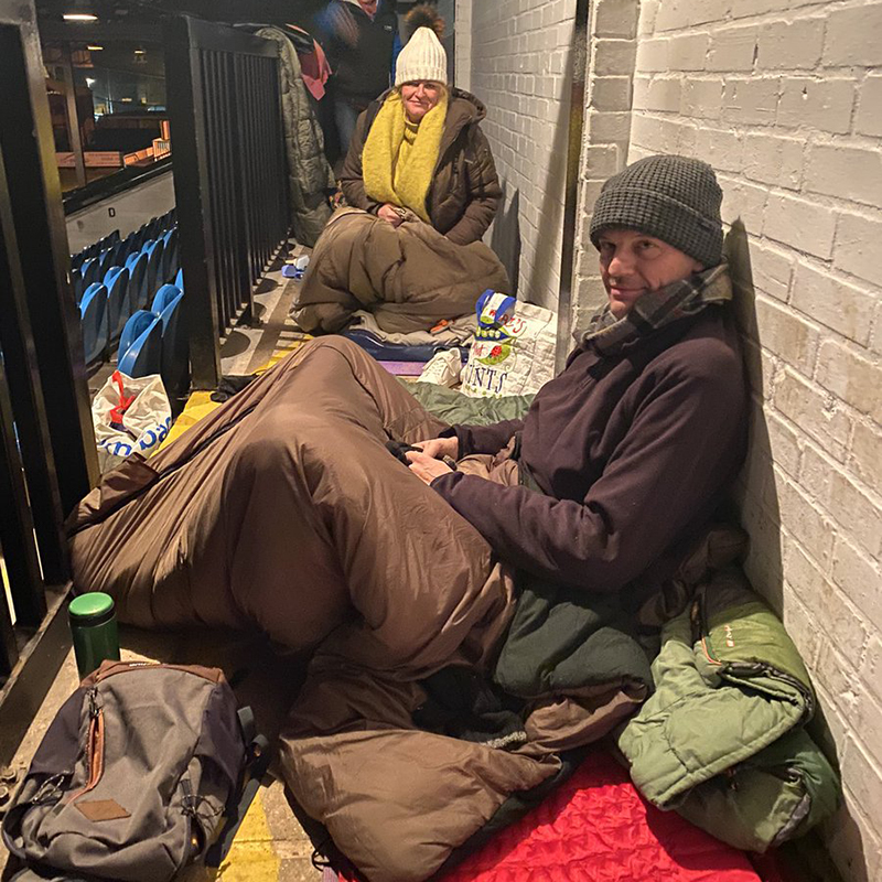 Cambridge United sleep out homeless Mike Sewell CPL agency charity